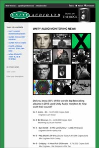 Unity Audio monitoring news