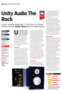 Robbie Stamp review of the Rock
